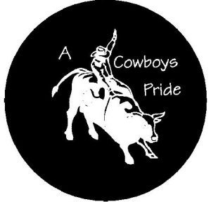 Rodeo Bull Rider Tire Cover
