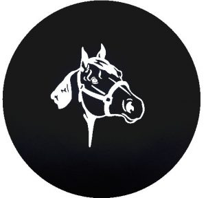 Horse Head Image Tire Cover