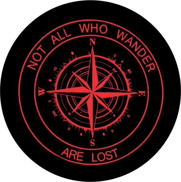 Red Compass Tire Cover