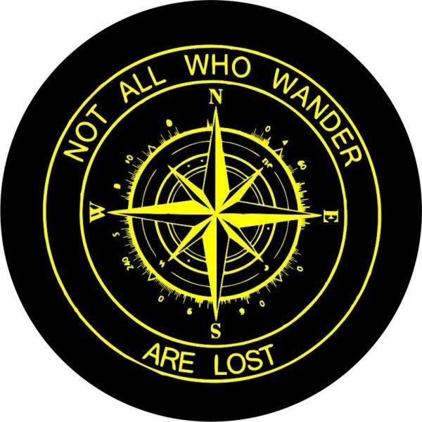 Yellow Compass Tire Cover