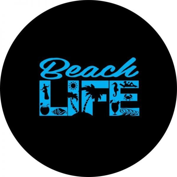Blue Beach Life Tire Cover