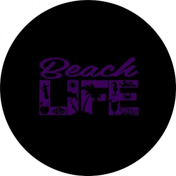 Purple Beach Life Tire Cover