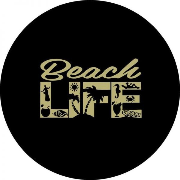 Tan Beach Life Tire Cover