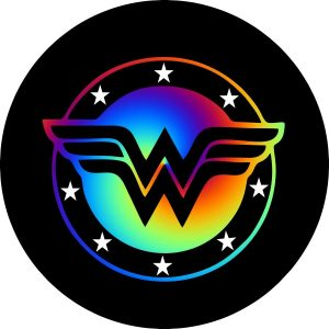 Rainbow Wonder Woman Tire Cover