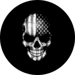 Flag Skull Black and White