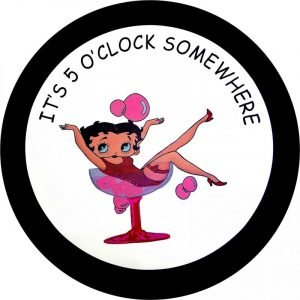 Betty It's A 5 O'clock Somewhere tire cover