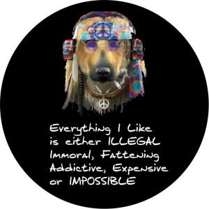 Hippie Dog Tire Cover
