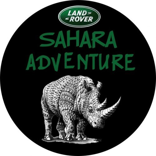 Sahara Adventure Tire Cover Black