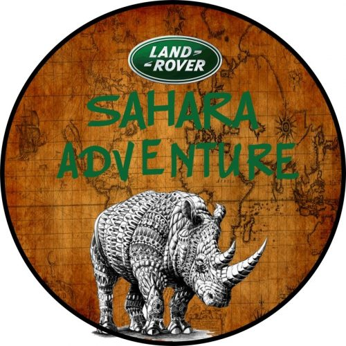 Sahara Adventure Map Tire Cover