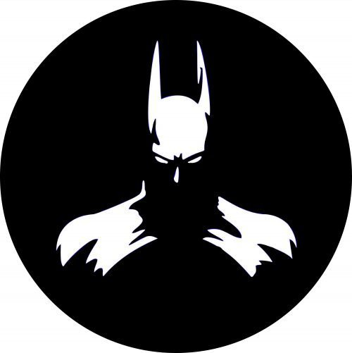 Bat Man White Tire Cover