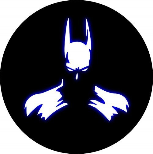 Bat Man Blue Glow Tire Cover
