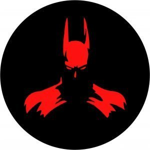 Bat Man Red Tire Cover