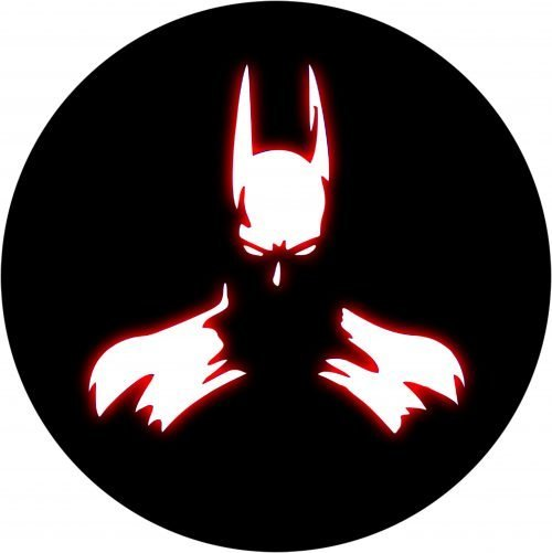 Bat Man Red Glow