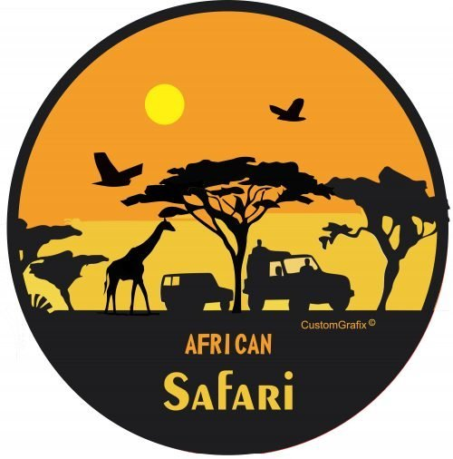African Safari Tire Cover