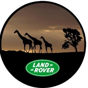 Land Rover Africa Sunset  Giraffe Tire Cover