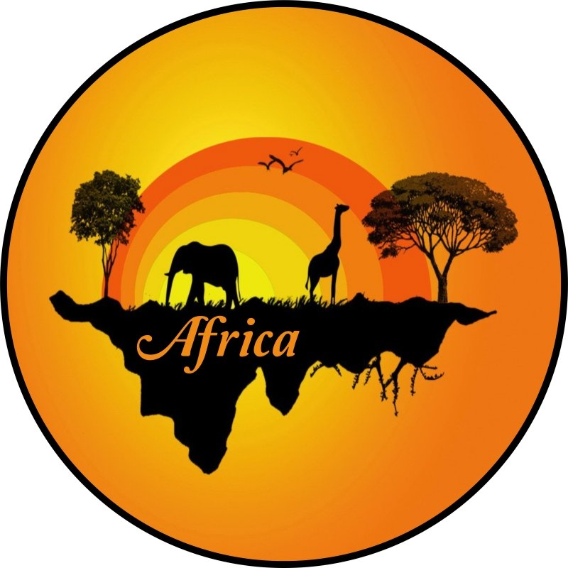 Colorful African Silhouette