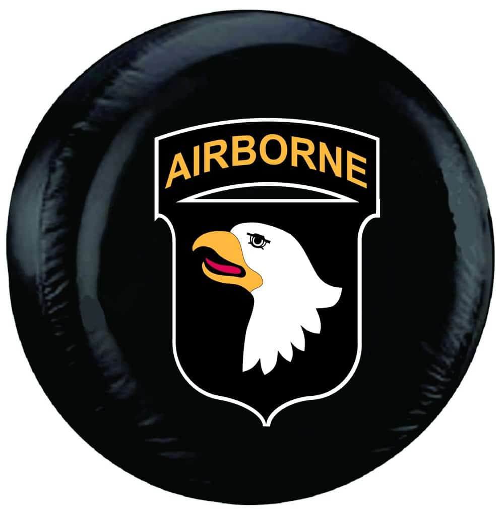 101st Airborne Tire Cover