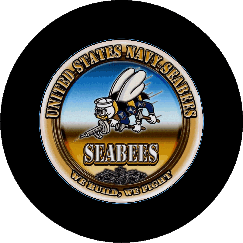 Navy Seabees Tire Cover