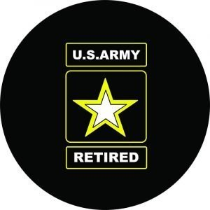 US Army Retired Spare Tire Cover
