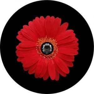 Red Sunflower Back Up Camera Tire Cover