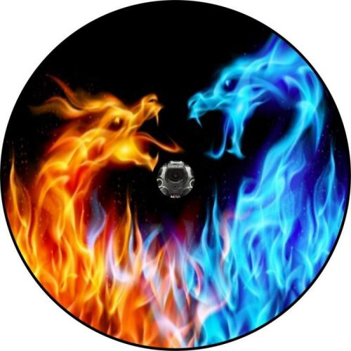 Fire and Ice Dragons Back Up Camera Tire Cover