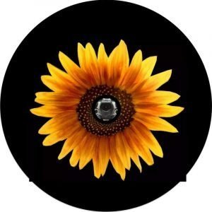 Yellow Sun Flower Back Up Camera Tire Cover